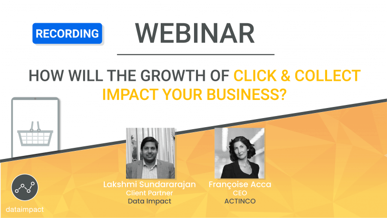 webinar click and collect ACTINCO data impact