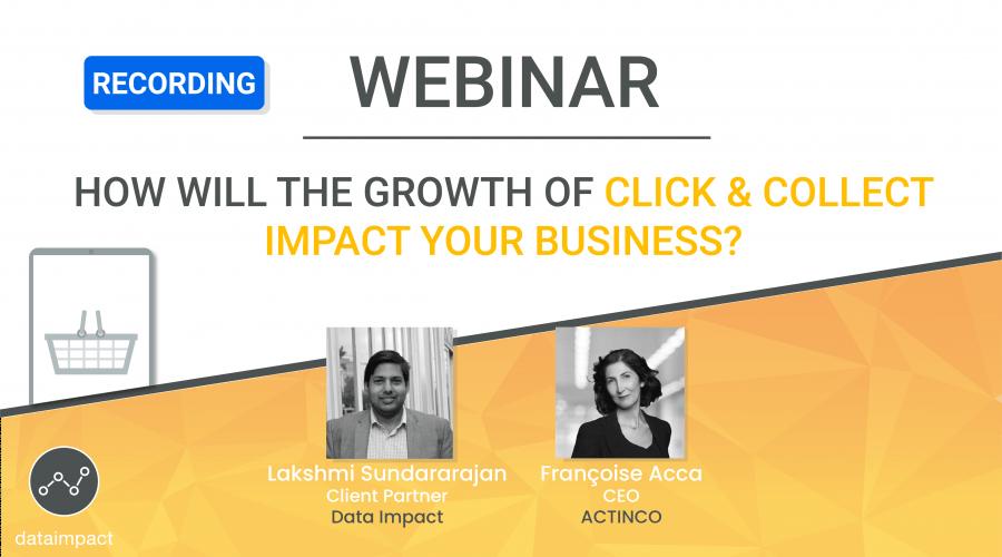 webinar click and collect ACTINCO data impact