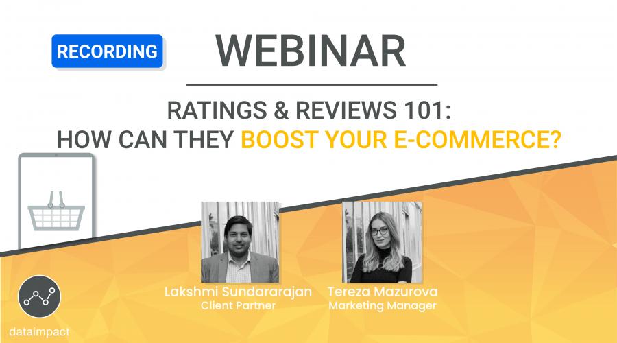 webinar ratings reviews e-commerce FMCG data impact