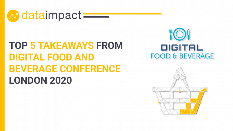 digital food and beverage london 2020 data impact