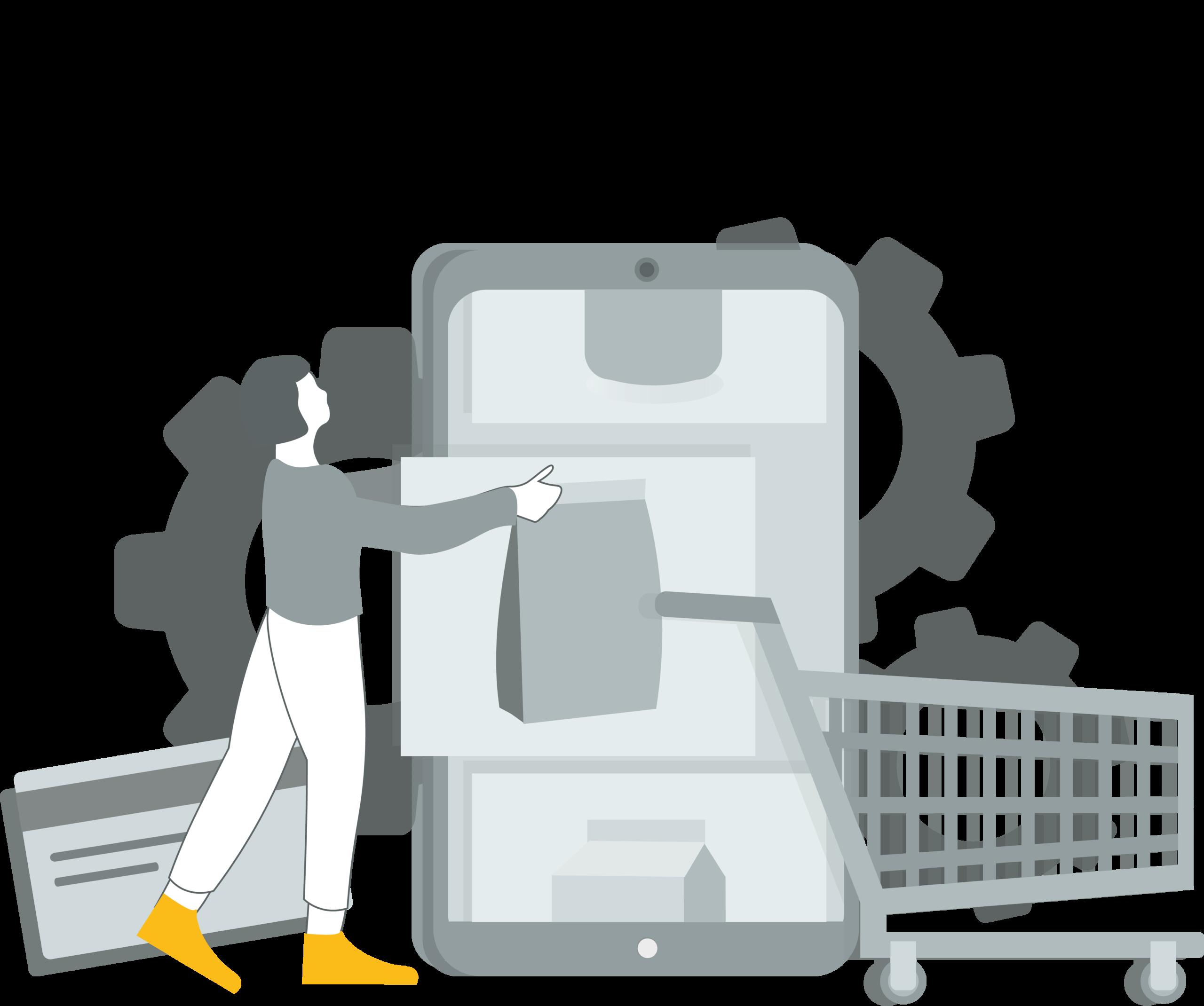 Ecommerce & Omnichannel team illustration