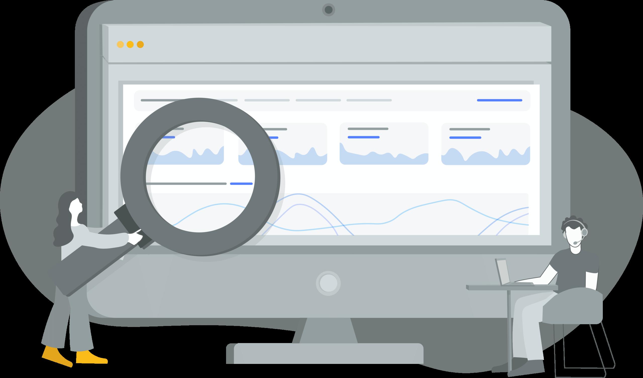 Support dashboard illustration