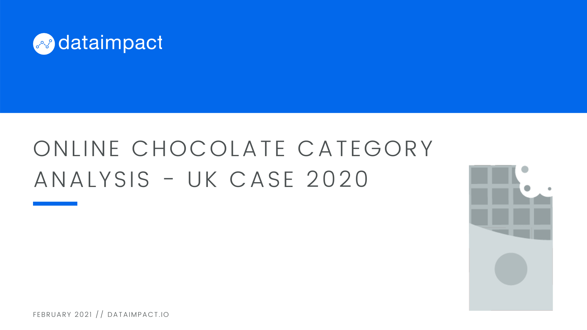 Chocolate online category analysis 2020 uk case