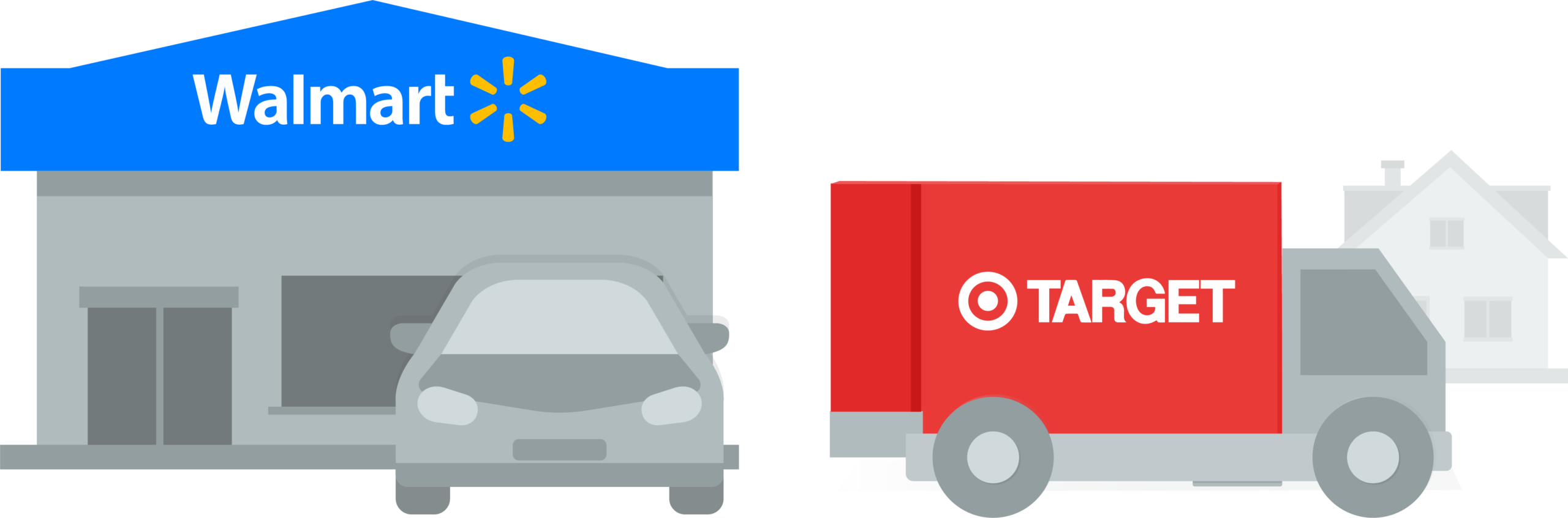 Walmart and Target delivery